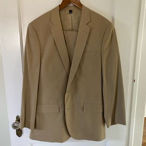 J Crew Khaki Thomspson two piece suit, worn once!